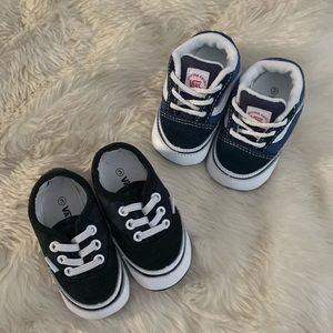 Lot of 2 Vans Old Skool Infant Crib Shoes, sz 3
